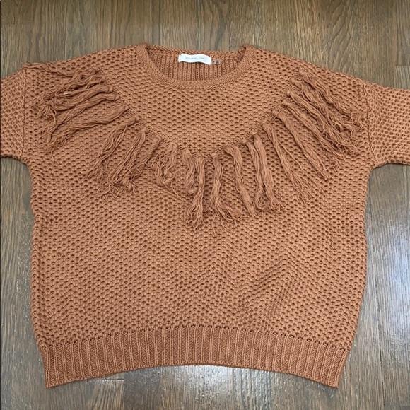 Brown waffle sweater